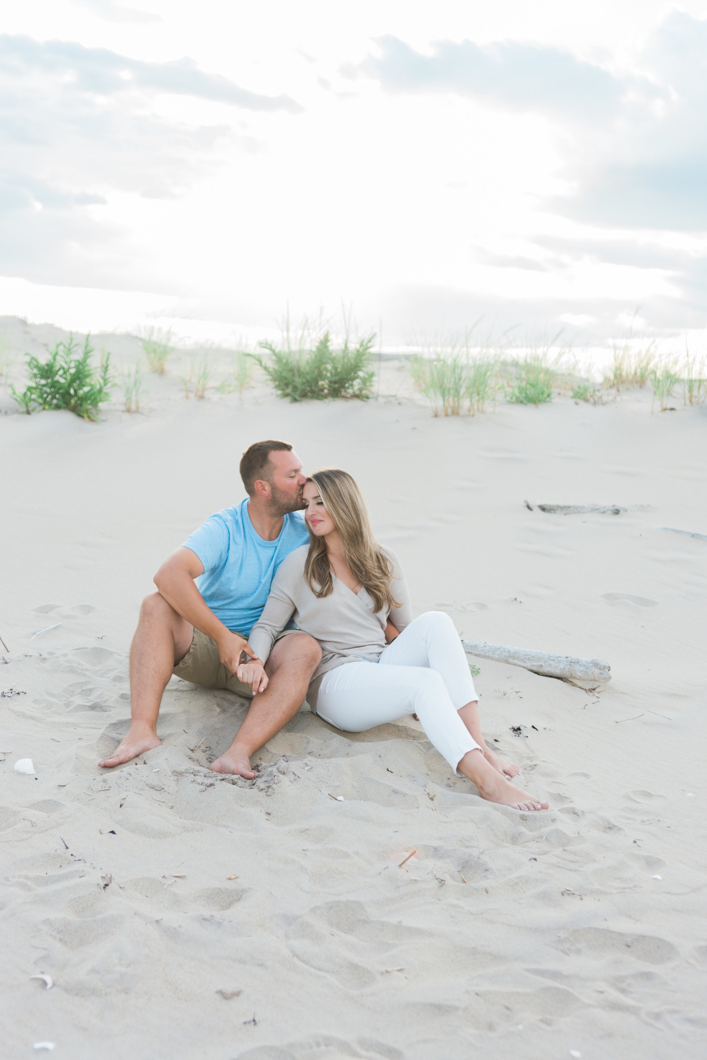 Plum Island Sunset Engagement Photos