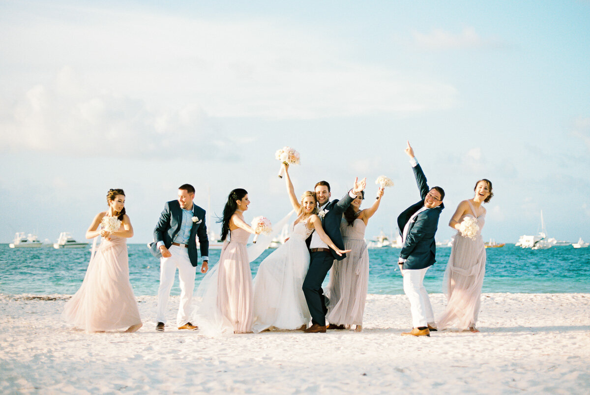Punta Cana Wedding - Bridal Party Jumping