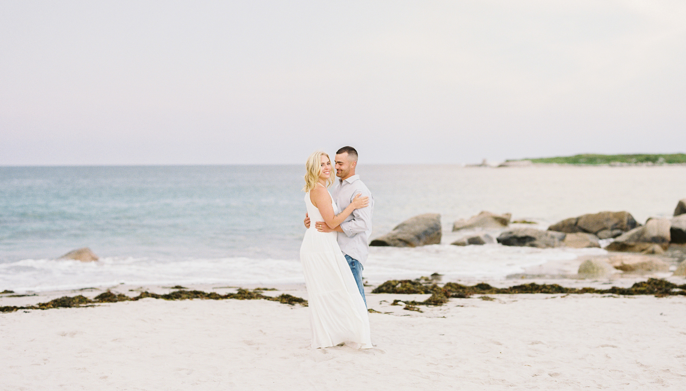 Jacqueline Anne, Halifax Wedding Photographer captured couple on beach in Crystal Crescent