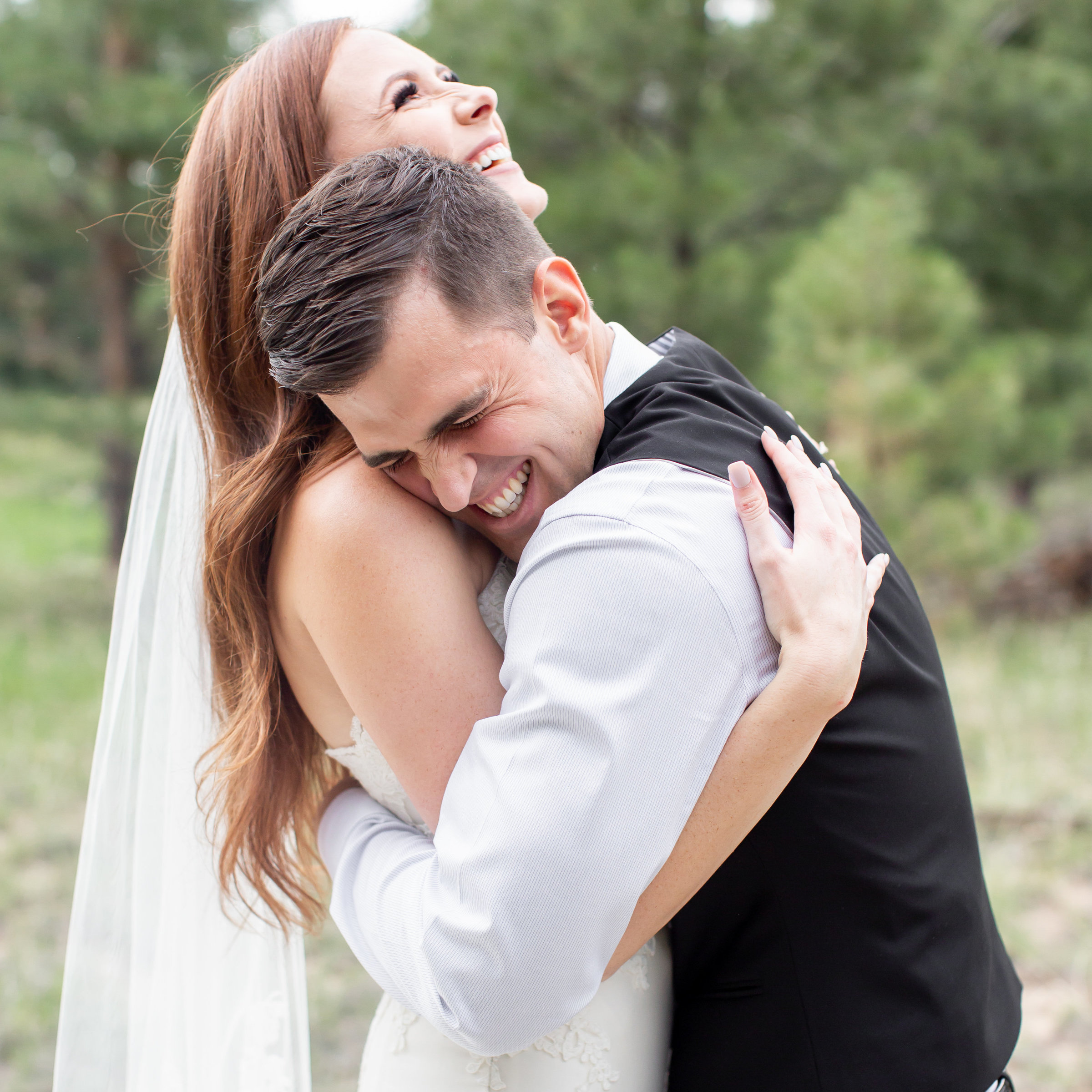 authentic laugh bride and groom