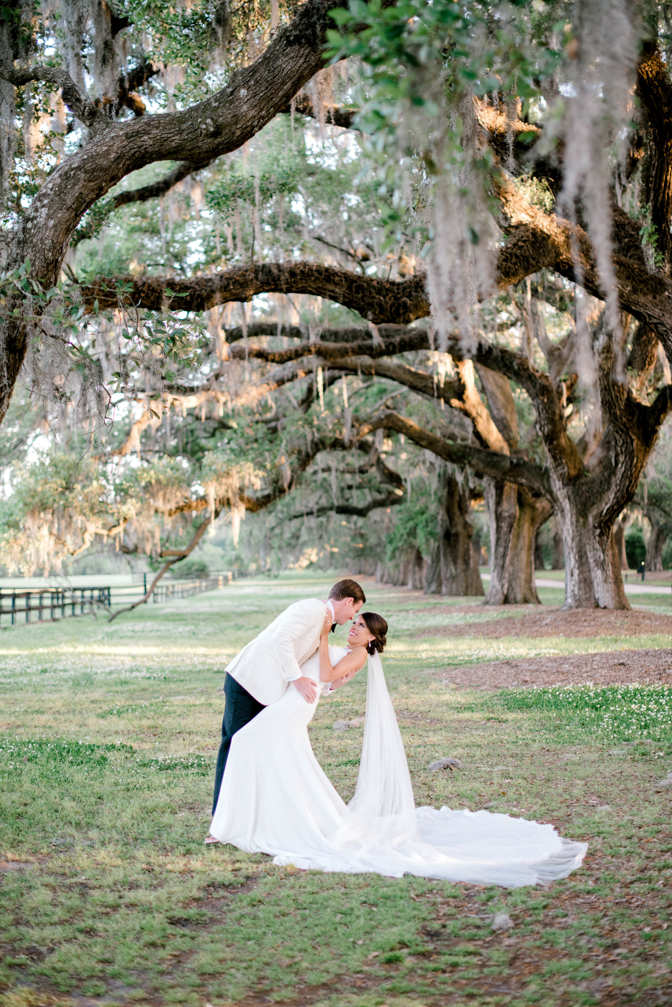 Boone Hall Plantation first look Catholic Wedding