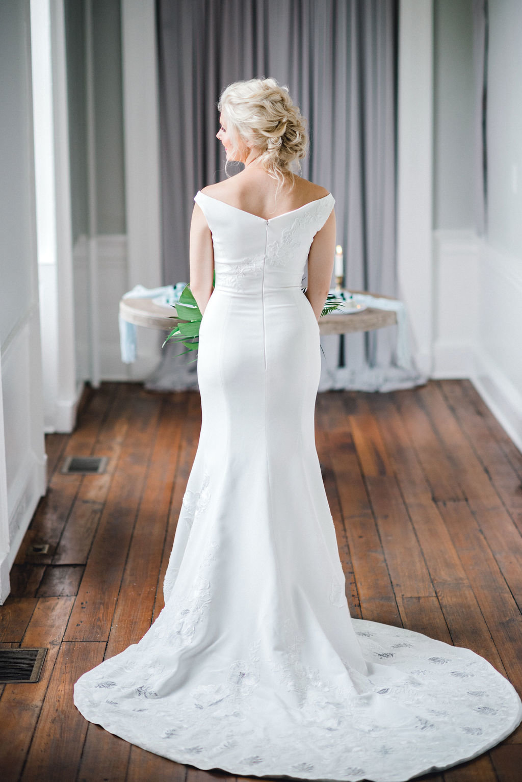 Miraz Willinger Bridal Gown Portraits Gadsden House Charlston