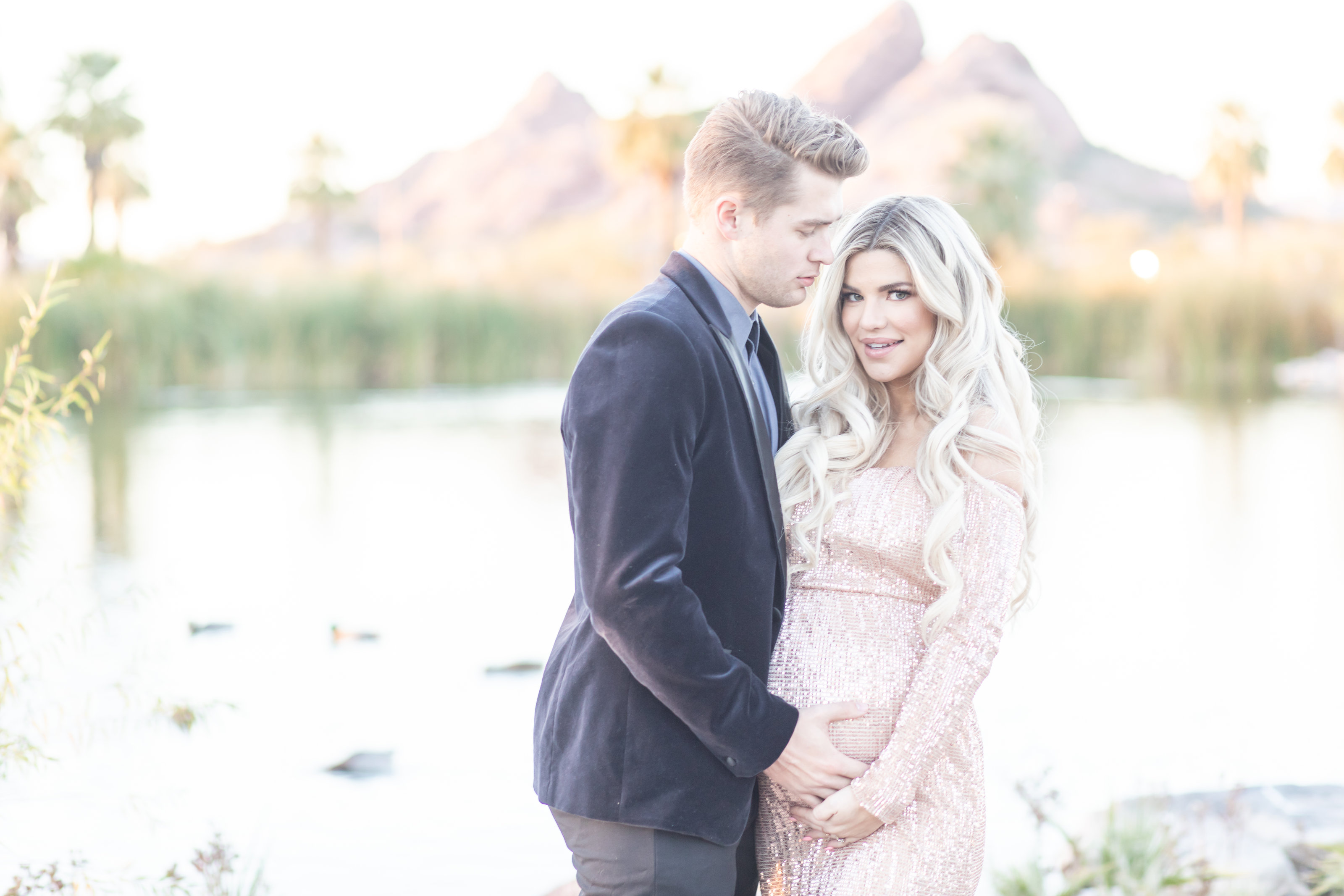 Kendall and Zac Hyzdu Maternity  at Papago Park