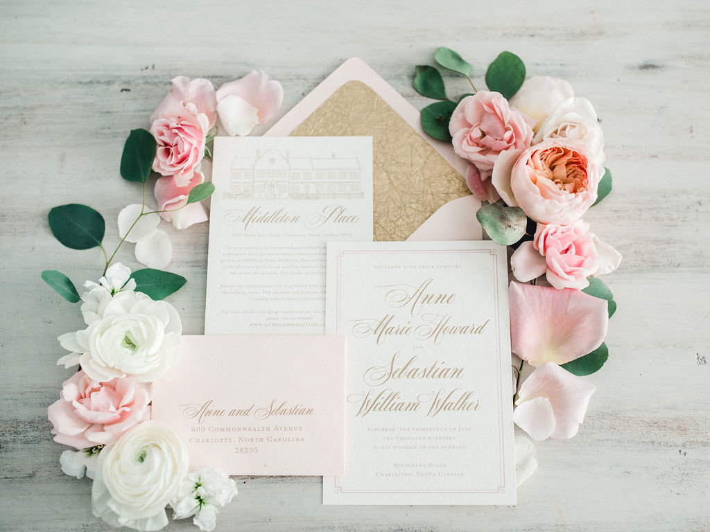 Details Invitation suite Low Country Paper Co