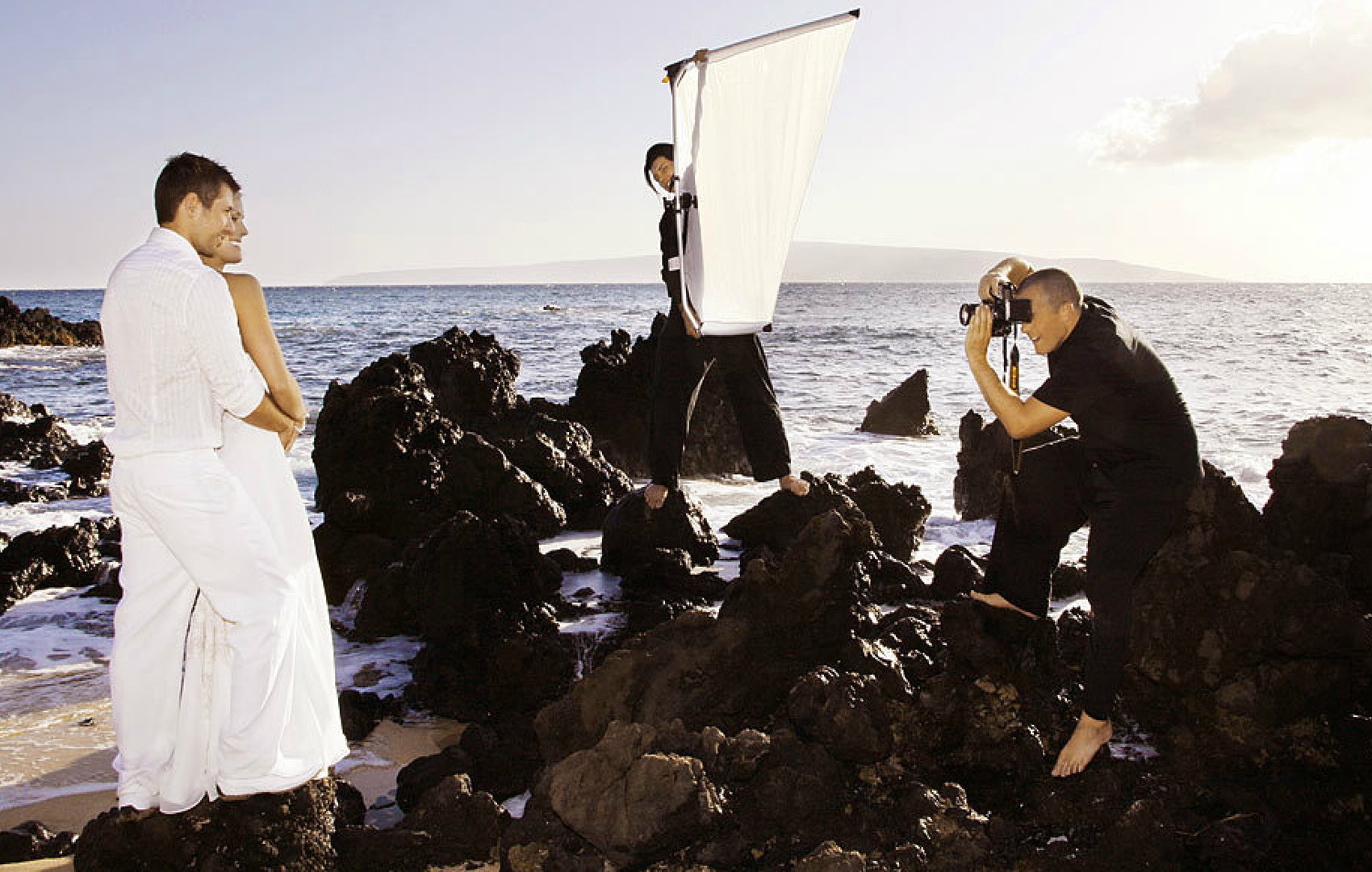 Behind the scenes photographers on Maui
