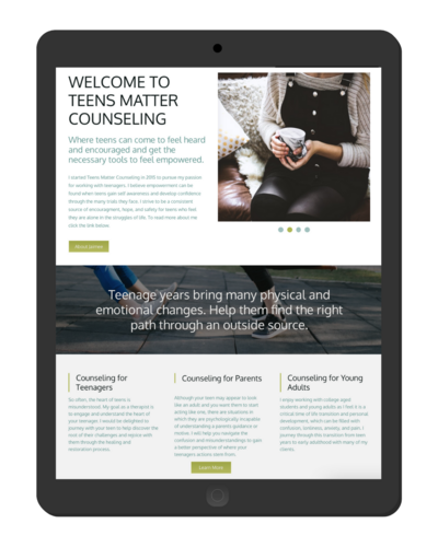 counseling wix website