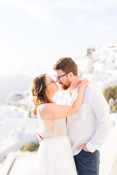 Santorini Elopement | Santorini Wedding Photographer | Imerovigli | Taylor Rose Photography |  Bride & Groom-100