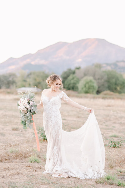 california bride in allure dress