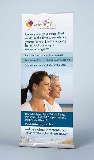 Wellbeing Health Retreats Banner by The Brand Advisory