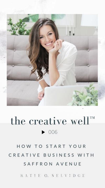 The Creative Well™ Episode 003 | How to Stay Sharp & Inspired During Off Seasons and Sabbaticals with Katie O. Selvidge
