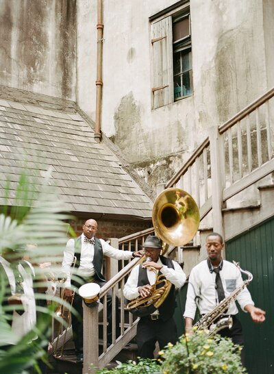 Preservation Hall Brass Band in New Orleans courtyard