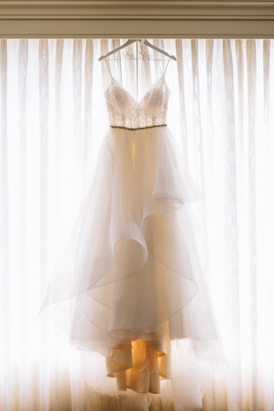 Wedding dress hanging  at AVAM wedding