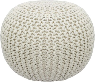Hand Knitted Pouf