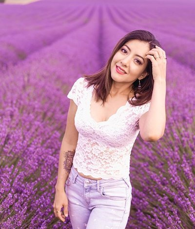 lavender fields in plateau de valensole provence france andrea marino potrait purple