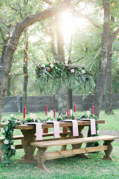 hanging floral design wedding