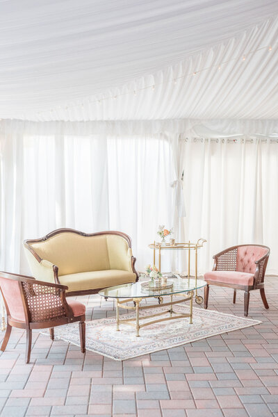 vintage furniture rentals for weddings hudson valley