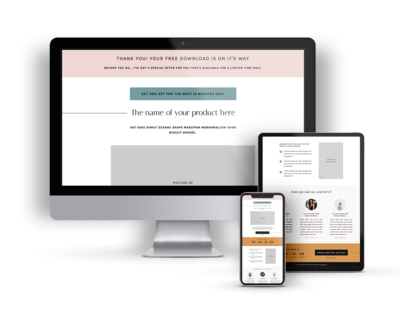 A Sales Page Template for Showit