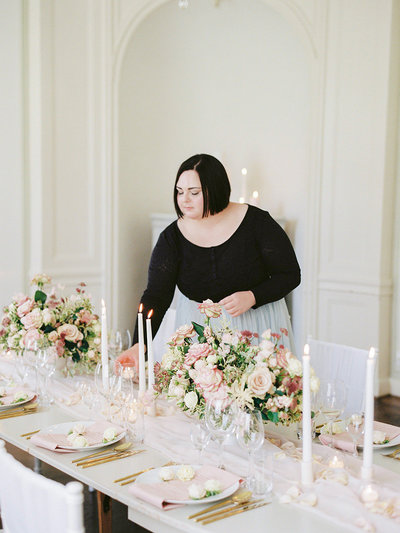 Portrait of wedding planner , designer and florist Linnéa Bergqvist in sweden