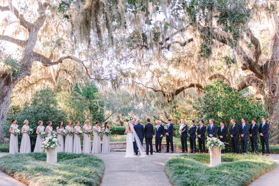 A Dreamy Brookgreen Gardens Wedding With Large Bridal Party