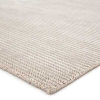 best and top rated ivory and cream area rugs - Nico Hand Woven Silk Classic Gray Area Rug from wayfair