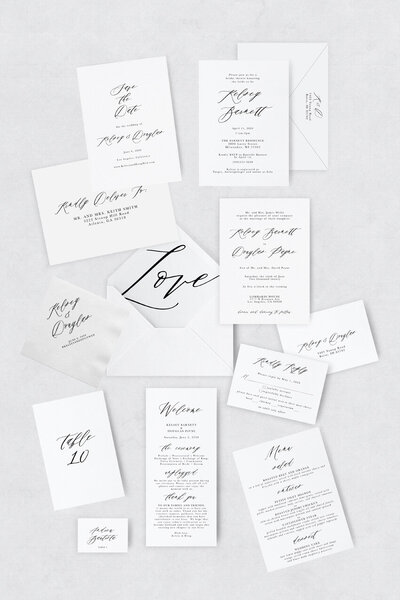 pirouettepaper.com | Wedding Stationery, Signage and Invitations | Pirouette Paper Company | Semi Custom Invitations | The Standard 07