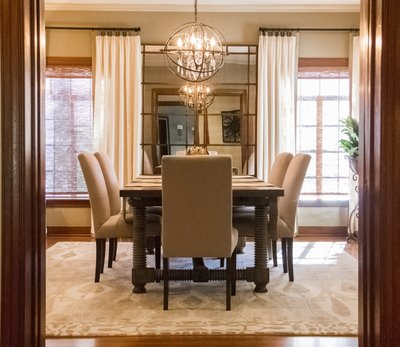 Timless Tudor Inviting Dining Interior Design