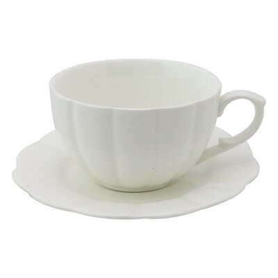 white coffee tea cups