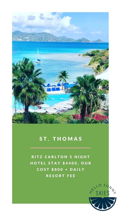 Our affordable vacation to St. Thomas, all the details