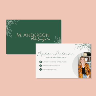MAnderson Business Card