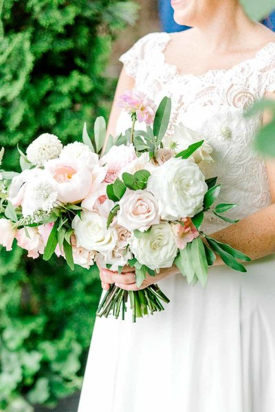 Light and Airy Wedding Bridal Bouquet.  Image by K. Lenox Photography