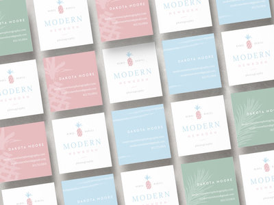 Logo Design Services: Business Card Designs | A collection of pastel business cards for newborn photographer