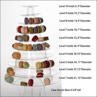 macaron tower stand count per level