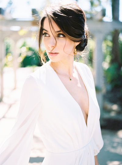 Santa Barbara Editorial Portraits, Beautiful Bride on film, Destination Wedding Photographer