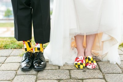 Maryland flag wedding shoes and socks