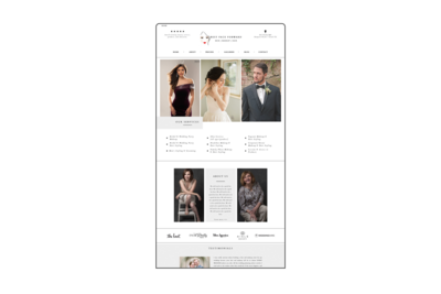 Showit Custom Site design by West & Co.