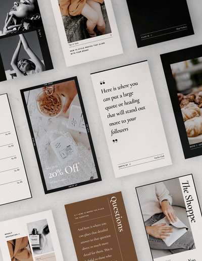 Creative and Stylish Social Media Templates for Instagram and Fashion Bloggers