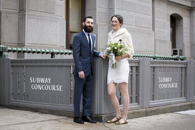 Bride and Groom Philadelphia City Hall Elopement