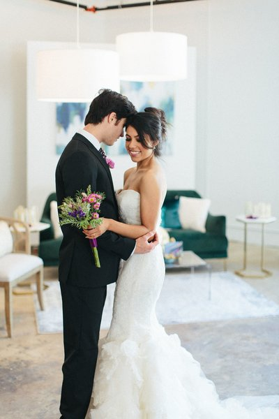 Factory Atlanta Bride and Groom styled by Posh Chic Events