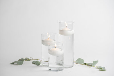 Set of 3 Floating Candle Vases Rental