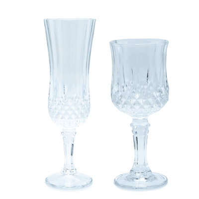 The Event Merchant Company Diamond Cut Glassware Set