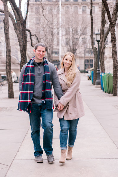 engagement session, engagement photography in midtown manhattan, new york