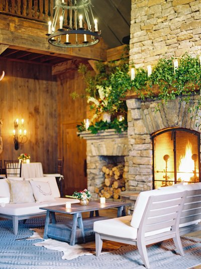 interior of cozy wedding venue