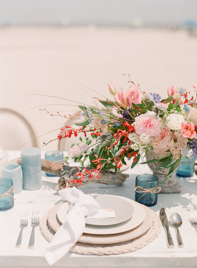 Coastal Beach Wedding Inspiration Tablescape