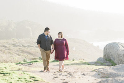 Romantic and dreamy engagement session  along the Big Sur coast with Tee Lambert Photography.
