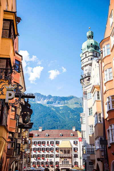 Golden Roof with Alps in Innsbruck