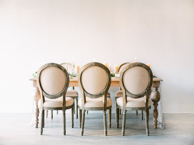 Intimate Wedding Reception Table
