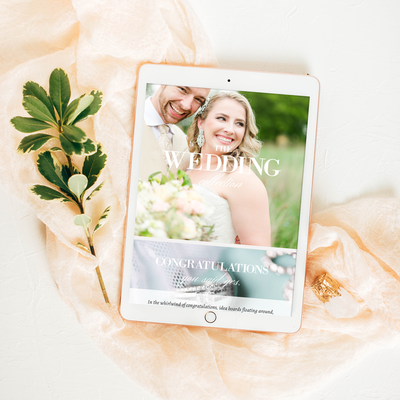 Professionally designed, custom-looking turnkey Showit5 website and marketing materials designed specifically for Wedding Professionals