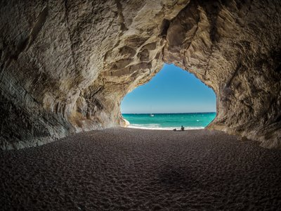 Cave on the beach. This photo was used in the branding of SeaBabes. The branding was designed by Ile Alafia Design Co.