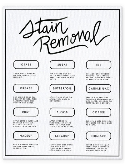 STAIN REMOVAL WHITE