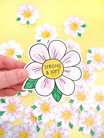Strong and Soft Sticker